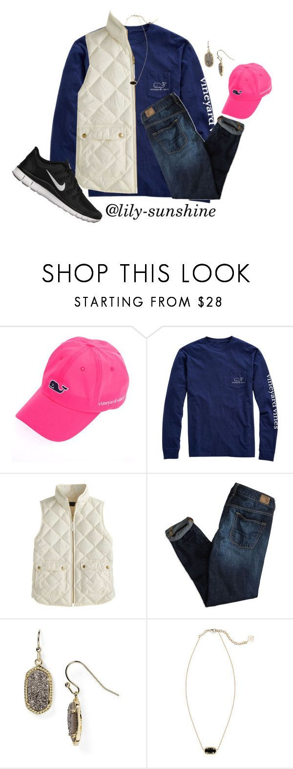 Oorn by lily-sunshine ❤ liked on Polyvore featuring Vineyard Vines, J.Crew, American Eagle Outfitters, Kendra Scott, NIKE, womens clothing, womens fashion, women, female and woman