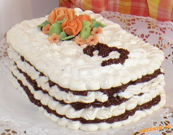 Penová snehová torta