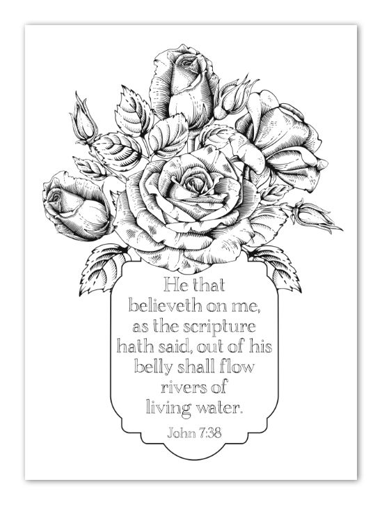 kjv coloring pages - bible study faith provision week 2 part 1