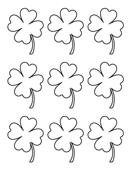 Small Four Leaf Clover Pattern