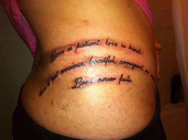 love is patient tattoo designs corinthians 13 4 tattoo extraordinary tattoos and piercings. Black Bedroom Furniture Sets. Home Design Ideas