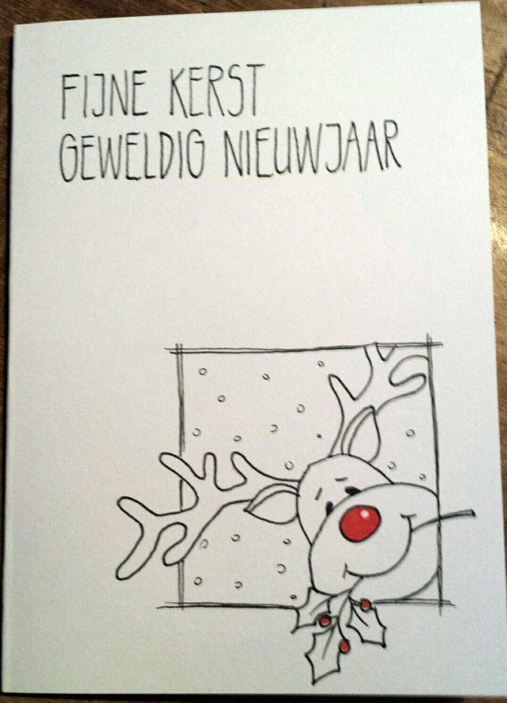 Kerst- handlettering - rendier