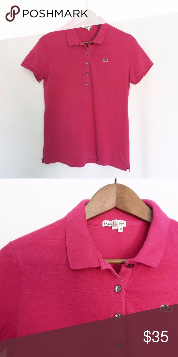 Lacoste Pink Polo Shirt Good condition. Lacoste Tops Tees - Short Sleeve