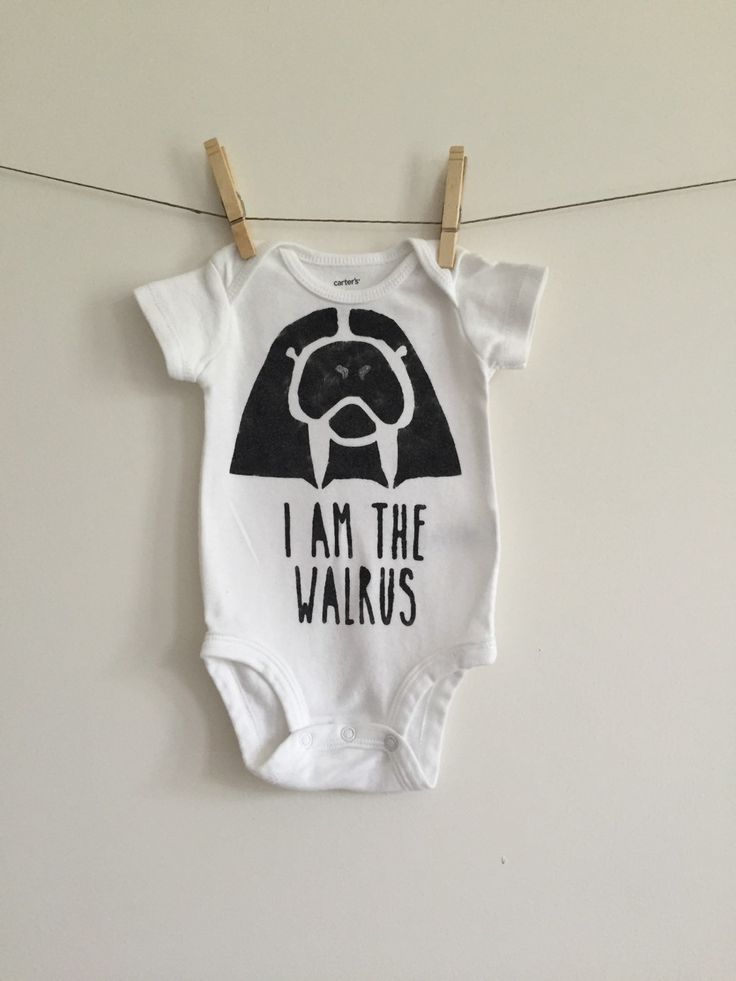The Beatles Baby Onesie// Beatles Baby Clothes // I Am The Walrus Baby Onesie Bodysuit // Beatles Baby Shower // Walrus Baby / Beatles Shirt by anUPdesign on Etsy https://www.etsy.com/listing/239622021/the-beatles-baby-onesie-beatles-baby