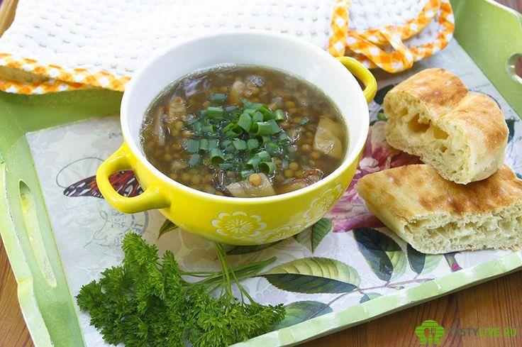 Суп из грибов с чечевицей