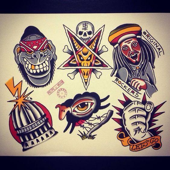 Epingle Sur Punk Rock Tattoos