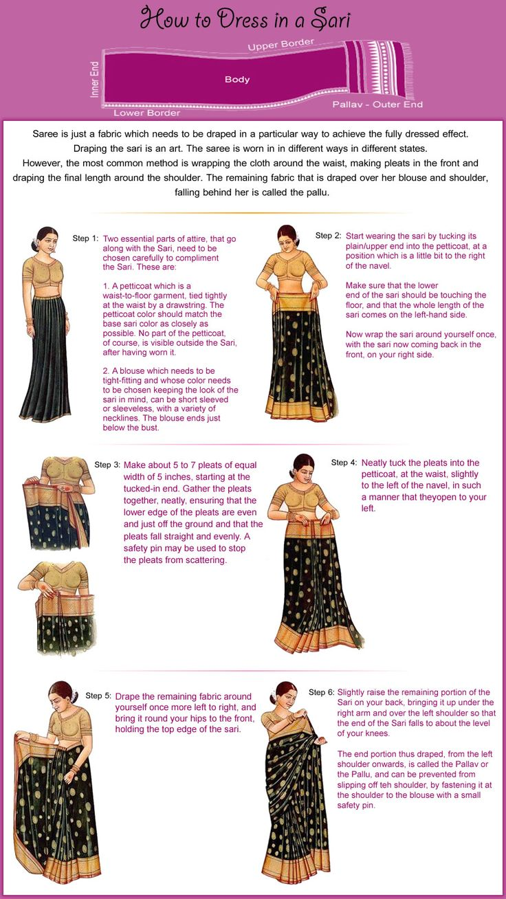 One day I'm travelling to India and I will need to know how to wear a saree. Visit  www.inga-design.com