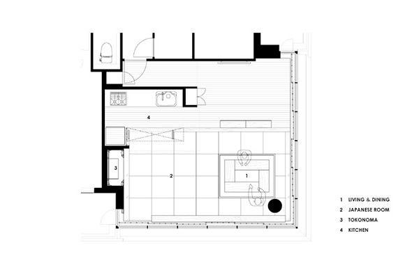 千里中央の家のリノベーション後の平面図