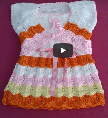 Gestrickte Babykleider vom Spieß sind ein schönes Modell mit Erzählung und auch …   – lekla