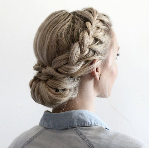 French braid updo by Annie Pearce