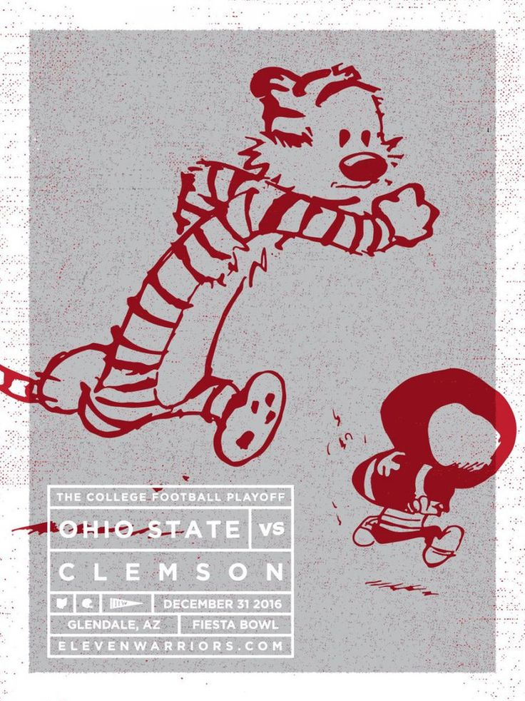 12-31-2016 GAME #13 FIESTA BOWL CLEMSON VS. THE GAME POSTER BY WALT KEYS.