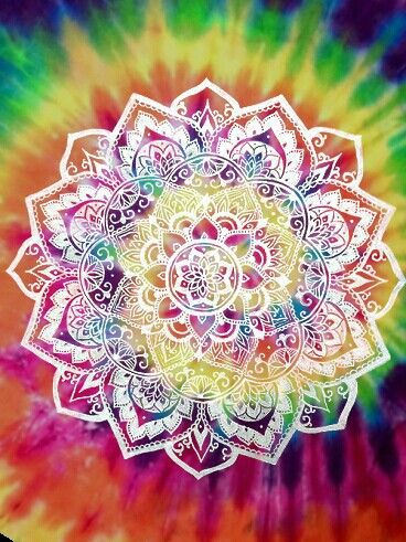 Bohemian Hippie Tie Dye Mandala Art Design Love Summer