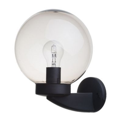 Shop The Bali Outdoor Globe Wall Light In Black From Litecraft FREE Standard UK Delivery On All Lights And Garden Lighting