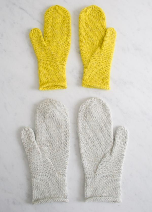 Arched Gusset Mittens - free download pattern from the Purl Bee, in child and adult sizes