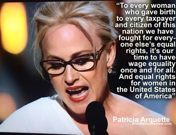 Thank you to Patricia Arquette for speaking out about an big issue on women and wage inequality.