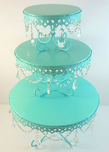 TEAL (AQUA) WEDDING CAKE STAND FOR SALE!!! ADD <3 <3 DIY www.customweddingprintables.com