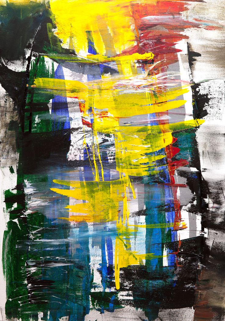 by Nora Jane. 70x100 cm (27x40 in) #acrylic on cardboard. #art #abstract #painting #yellow