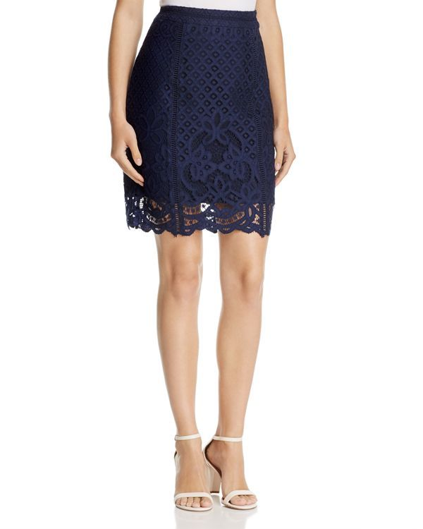 cupcakes and cashmere Almont Lace Pencil Skirt