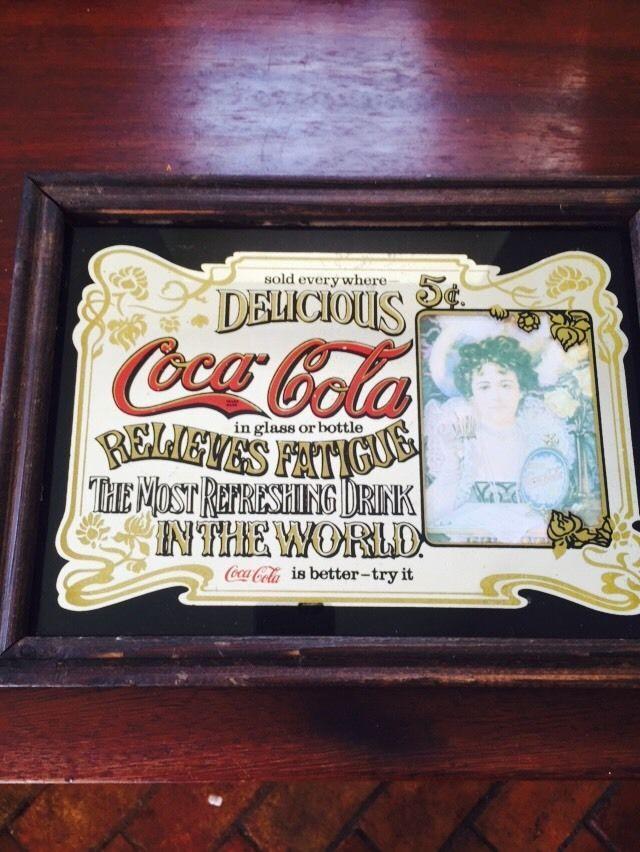 Vintage Original Coca Cola Pub Advertising Mirror
