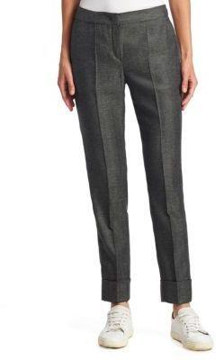 Armani Collezioni Mini Herringbone Cuffed Pants
