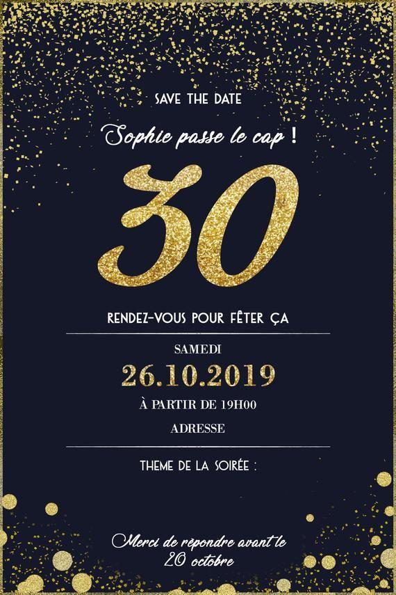 invitation anniversaire 30