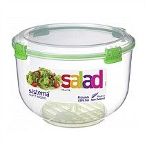 Sistema Accents Salad Container Assorted 3.5L