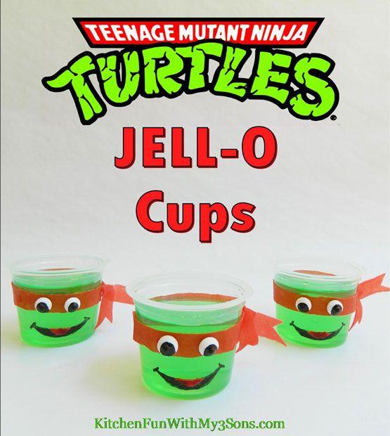Ninja Turtles JELL-O cups