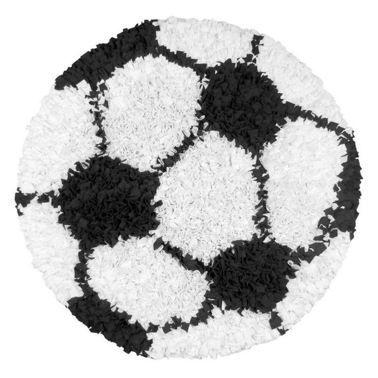 Shaggy Football Rug: Rug Market Kids Shaggy Raggy Soccer Ball Rug