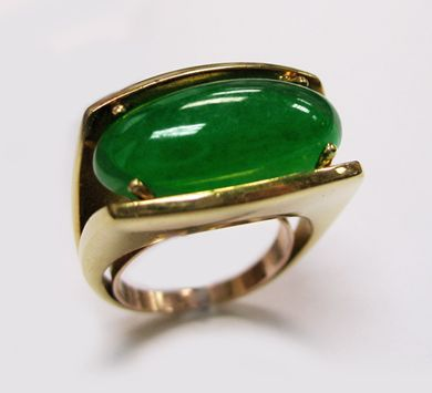 The DeYoung Collection an imperial jade ring - look at the clarity WOW