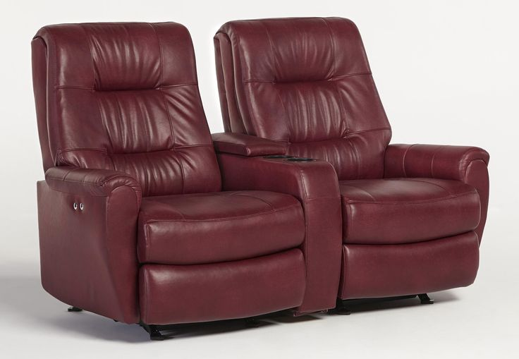 Recliner Loveseats For Small Spaces Small Scale Reclining Space Saver Loveseat With Drink And