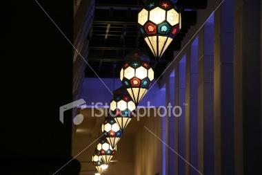 Line of Lanterns Royalty Free Stock Photo