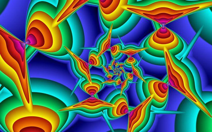 Rainbow Fractal | ... Free Fractal Rainbow Sun Wallpaper Download The Free Fractal Rainbow