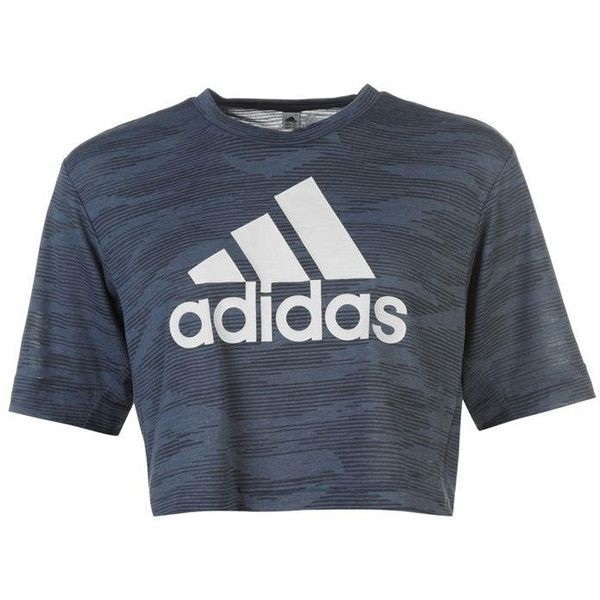 adidas Aeroknit Boxy Crop Top Ladies (75 BRL) ❤ liked on Polyvore featuring tops, shirts, crop tops, adidas, blusas, boxy shirt, crop shirt, cut-out crop tops and boxy tops