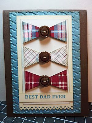 Great Bow Tie Dads Day Card: Cards Ideas, Man Cards, Bows Ties, Father Day Cards, Male Cards, Birthday Cards, Masculine Cards, Paper Crafts, Boys Cards