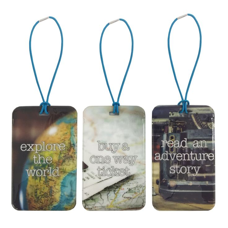 Set Of 3 Luggage Tags (Story)