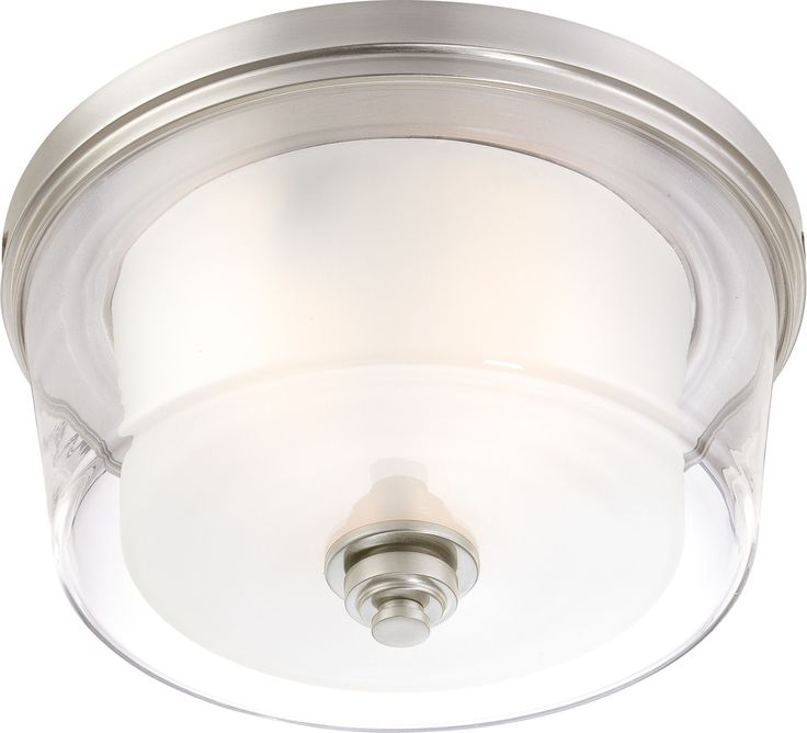 "16"" Flush Mount Light Fixture in Brushed Nickel Finish"