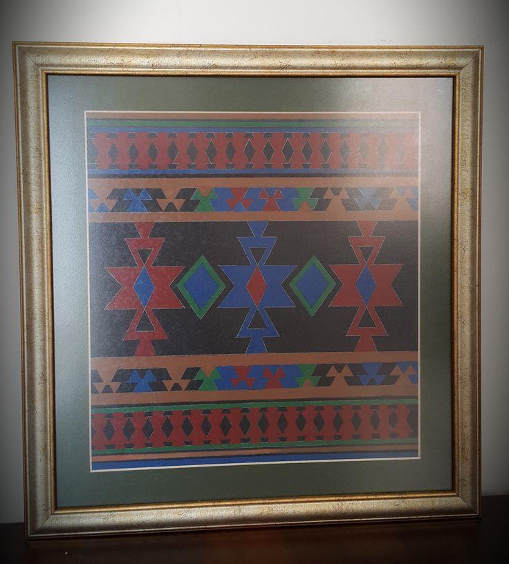 Eser Adı: Kilim  Boyutlar: 42 cm.x 42 cm. Teknik: Guvaj boya tekniği Tarih: 2000  Tema: Anadolu kültüründe yer alan kilim motiflerinden esinlenilerek tasarlanmıştır.  Fiyat: Lütfen iletişime geçiniz