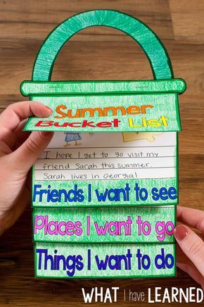 A fun craftivity flap book where students write about all the friends they are going to see this summer, the places they want to visit, and the things they want to do. The perfect craft for the last couple weeks of school.