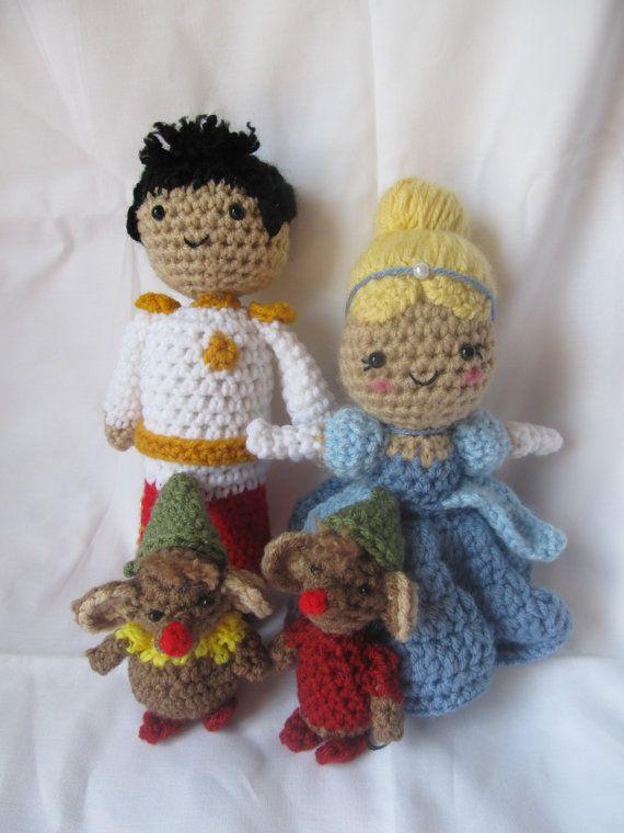 Free Amigurumi Crochet Patterns Disney : 3 PDF Crochet Patterns - Cinderella, Prince Charming, Gus ...