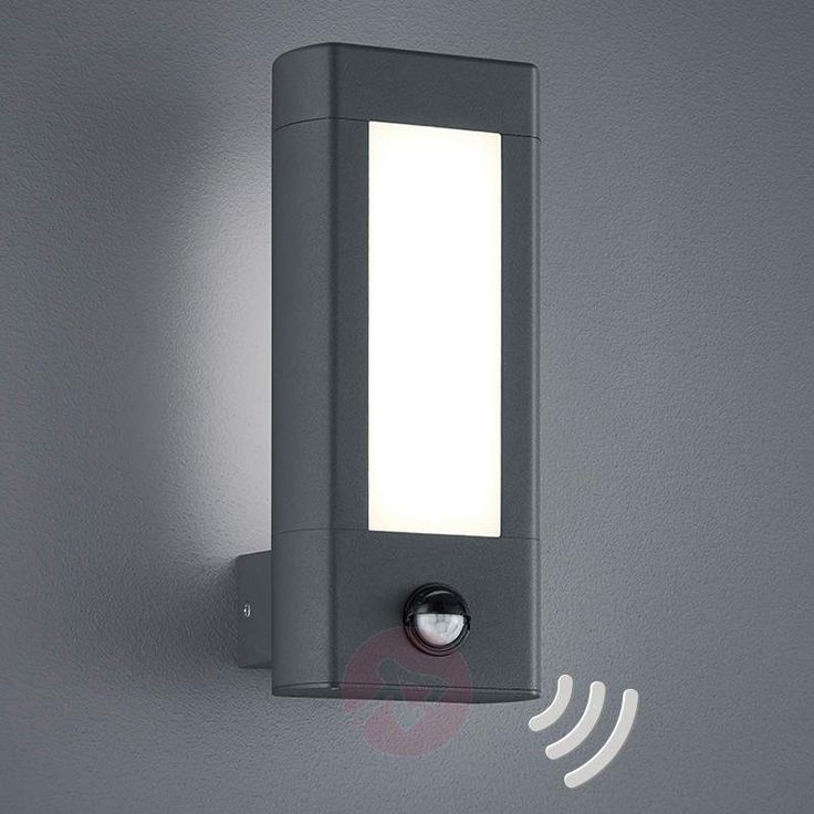 24 best garden lighting images on pinterest led outdoor wall with motion detector led outdoor wall lamp rhine 9005213 30 ip54 the sensor has a range of max eight metres and a detection angle of 120 mozeypictures Images