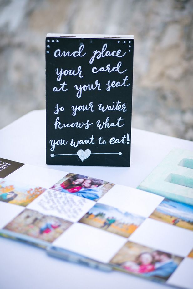 Use your escort cards to mark guests' meal choices ...