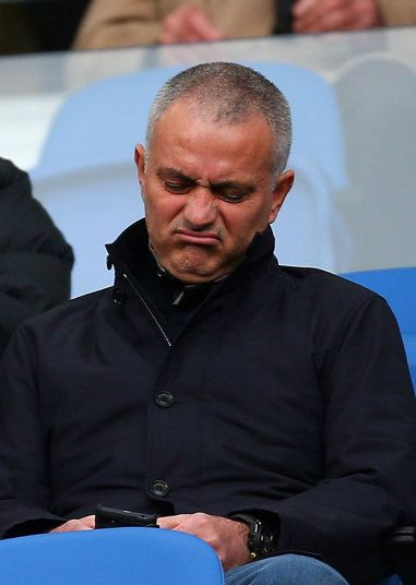 Jose Mourinho, former manager of Chelsea watches on during the Sky Bet Championship match between Brighton and Hove Albion and Middlesbrough at The Amex Stadium in Brighton.