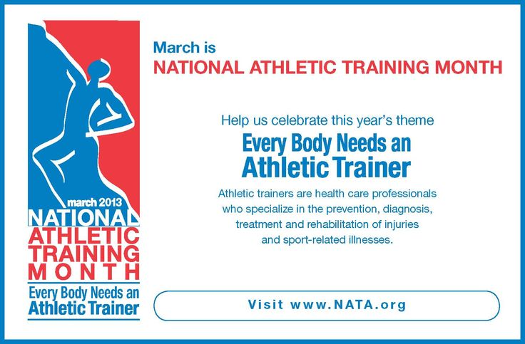 March is National Athletic Training Month! Athletic