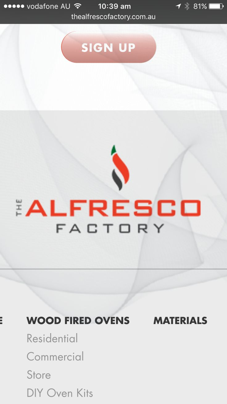 We have rebranded! Alfresco Woodfired Pizza Ovens has now become The Alfresco Factory - check out our fresh new website thealfrescofactoryfactory.com.au
