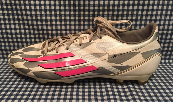Adidas F10 TRX FG Women's Soccer Cleats US Size 8.5 White Solar Pink Gray #adidas