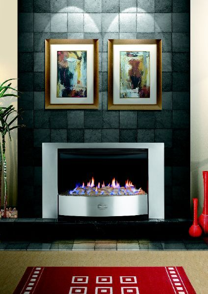 "MACD | Fireplaces, Gas fires, Gas heaters: ""Infiniti 700 Stainless Steel"" Available with either pebbles, OR coals  Make:	Infiniti Model:	700 Stainless Steel Output:	5Kw Heating Capacity:	90 Cubic metres Dimensions:	Trim - 935mm wide, 595mm high, 400mm deep Flue Size:	200mm x 200mm LPG Gas Consumption:	From 450 grams per hour on low to 700 grams per hour on high"