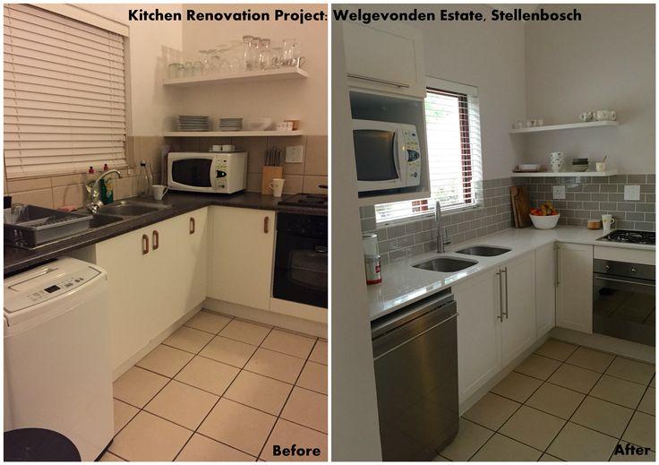 Kitchen revamp in Welgevonden Estate - before and after