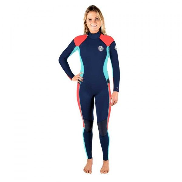 Combinaison surf Rip Curl Womens Dawn Patrol Back Zip 4/3 2017 - Navy