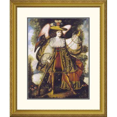 "Global Gallery 'Arcangel Con Arcabuz' by Cuzco School Framed Graphic Art Size: 32"" H x 26.65"" W x 1.5"" D"