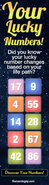 Lucky Numbers - Did you know that your lucky number changes based on your life path? Our date of birth offers a lot of significant information when we have the tools to both reveal and understand it. Learn More Here: http://www.horoscopeyearly.com/the-lotto-number-generator/